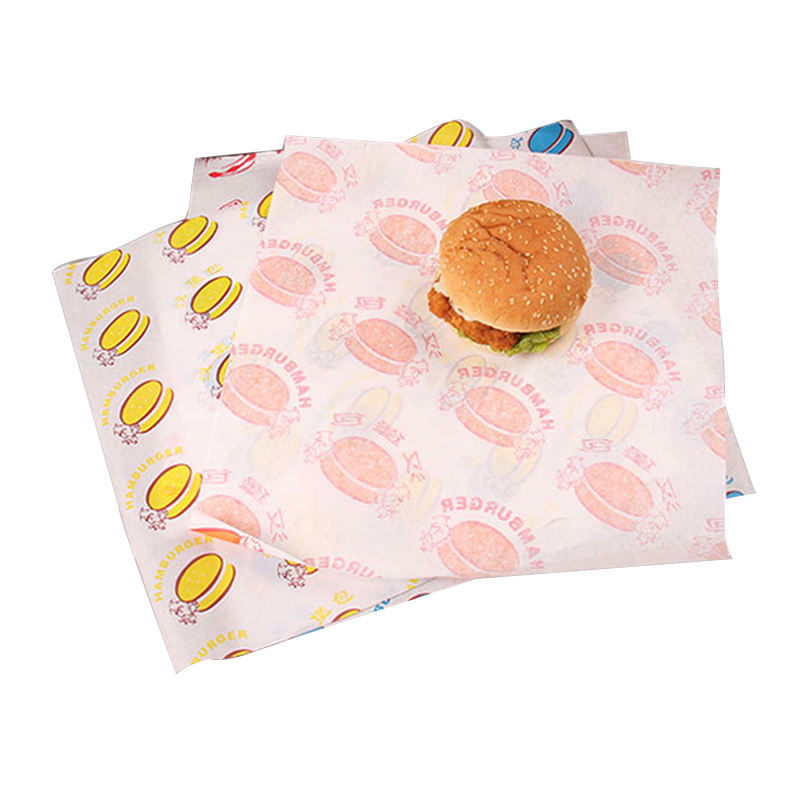 custom printed sandwich grease proof packaging food hamburger wrapping paper