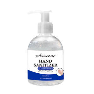 Alcohol Based Waterless Hand sanitizer Gel with factory price and ISO SGS GMPC certification