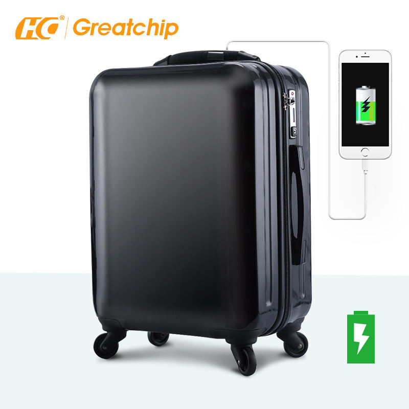 Abs suitcase with usb charging travel bags luggage trolley bags sets weight scale