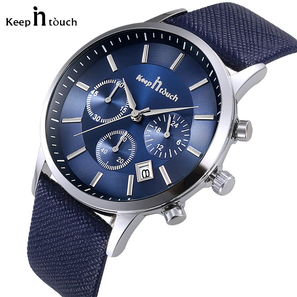 2020 Hot Sale Men Luxury Quartz Wrist Watches Chronograph Fashion Sport Leather Watches