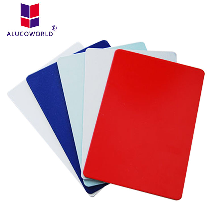 Alucoworld pe/pvdf /acm interior wall cladding acp superior performance aluminum composite cladding