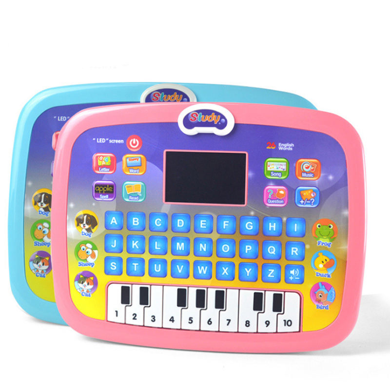 Educational led screen computer kids toys learning machine tablet