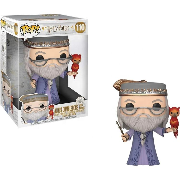 "Funko POP! Vinyl HarryPotter - 10"" Dumbledore with Fawkes Vinyl Figure"