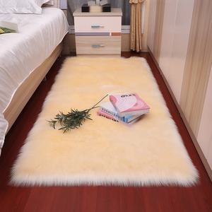 Wholesale modern Soft and fluffy faux fur sheepskin area rug carpet