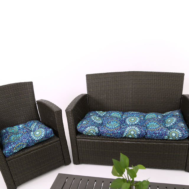 Printed Bench Seat Pad Chair Cushions Super Soft Pretty Waterproof Woven 100% Polyester Square Adults Modern SF PU Foam Cusion