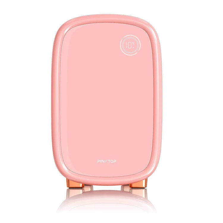 RoHS [ Refrigerator Mini ] 12v Refrigerator New 12L Portable Pink Beauty Makeup Refrigerator Skincare Cosmetic Mini Fridge For Home