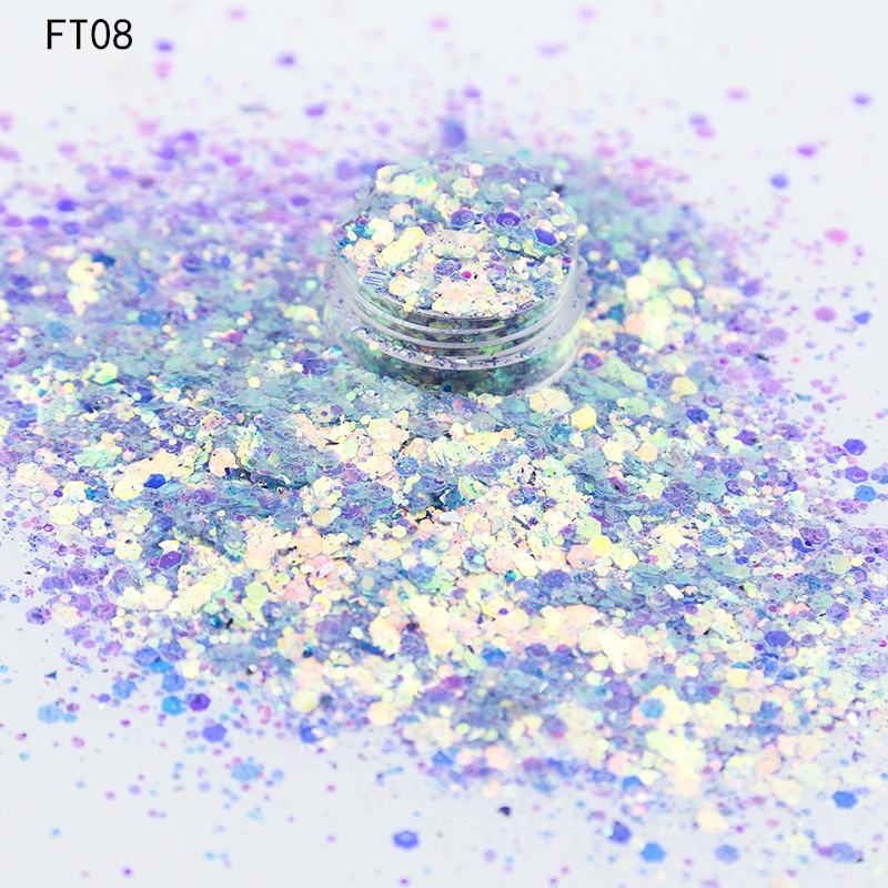 Glitter Wholesales Fairy Tear Wholesale Bulk Glitter Cosmetic Grade Chunky Glitter For Nail