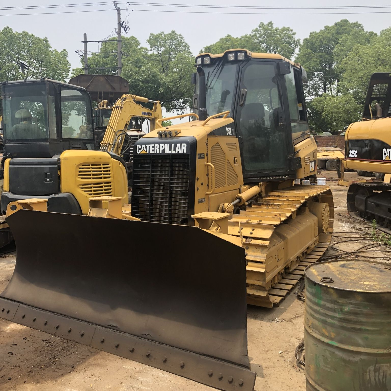 used Cat Bulldozer D5k Crawler Dozer UNIQUE Cylinder Pump Hydraulic Weight Moving Machine for sale