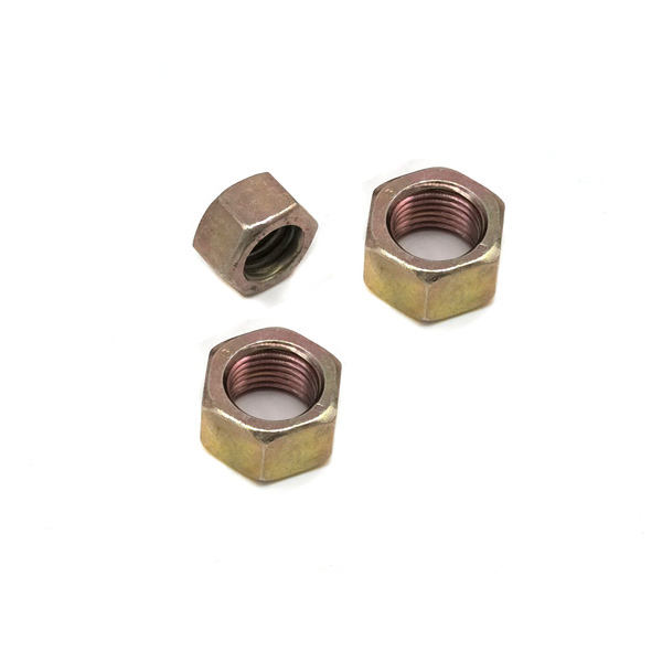 yellow color square nuts copper brass nut hex flange nut