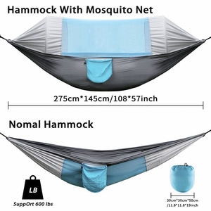 Hammock with Mosquito Net 2 Person Camping  Ultralight Portable Windproof  Anti-Mosquito  Swing Sleeping Hammock Bed with Net