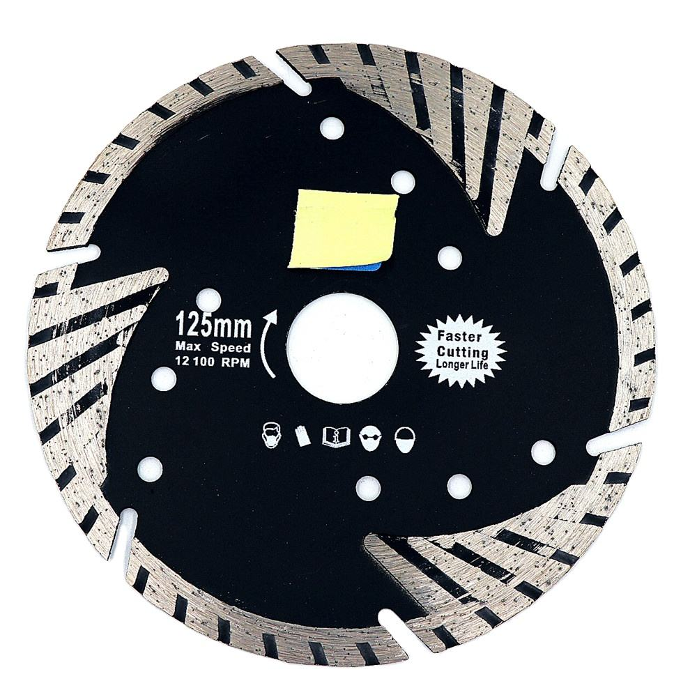 Superhin Diamond Hot Pressed Dry Cutting Segmented Turbo Saw Blade For Stone Granite Marble