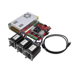 MACH3 USB 3-Axis CNC Kit TB6560 Stepper Motor Driver Board + 3pcs Nema23 Stepper Motor57+1pc Power