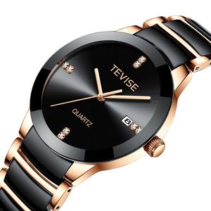 Tevise T845GS new design wristwatches luxury gift Quartz watch women and men couple ceramic watch wholesale