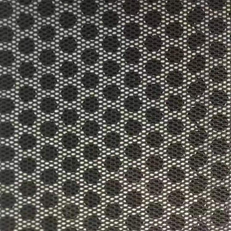 Polyester Warp knitting Mesh laminate embossing EVA fabric for shoes material