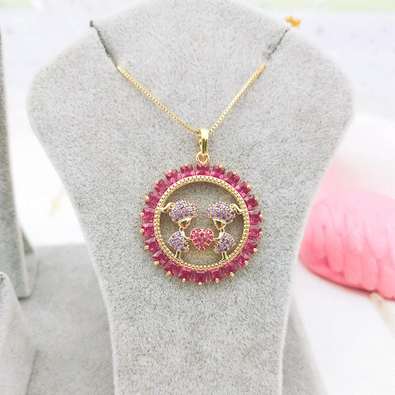 wholesale fashion foxi jewelry gold plated two kids children necklace 2020