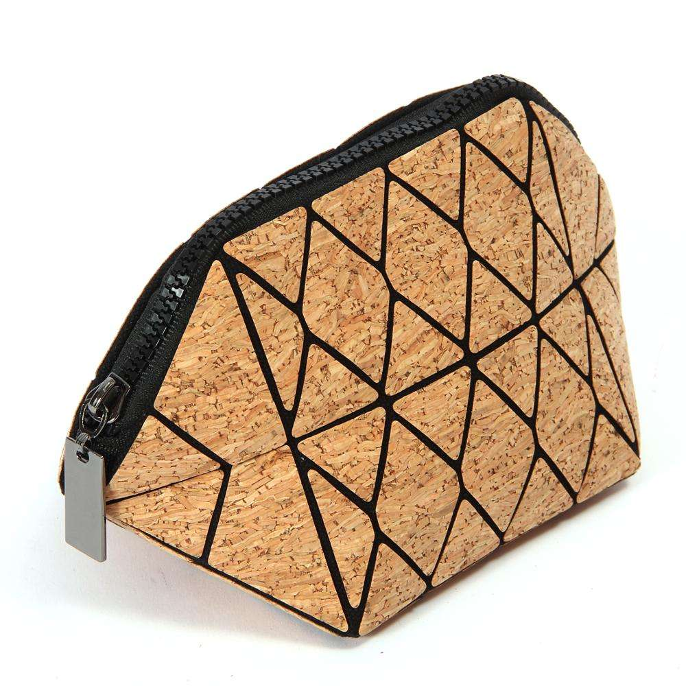 eco-friendly bottle carry bags essential oil carrying case bag cork geometriccosmetic bag