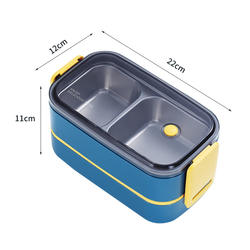 Nordic ins304 stainless steel insulated lunch box student office worker separate multi-layer lunch box portable lunch box