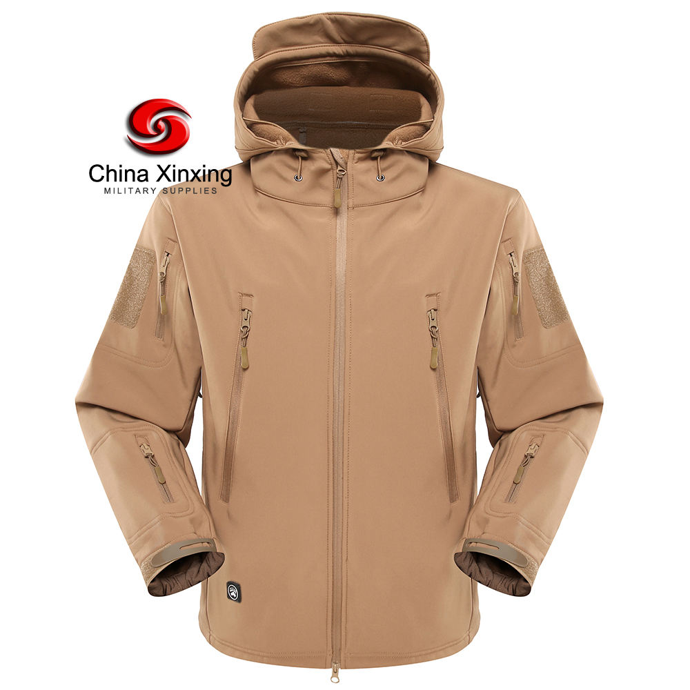 Packaging Customization [ Fleece Winter Jacket ] Winterfleece Custom Fleece Windproof Uniform Winter Hooded Army Military Jacket