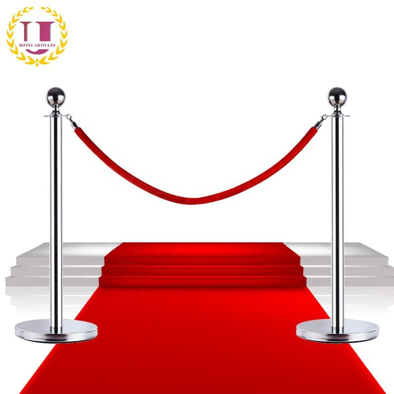 Exhibition Used Stainless Steel Red Carpet Rope Stanchions