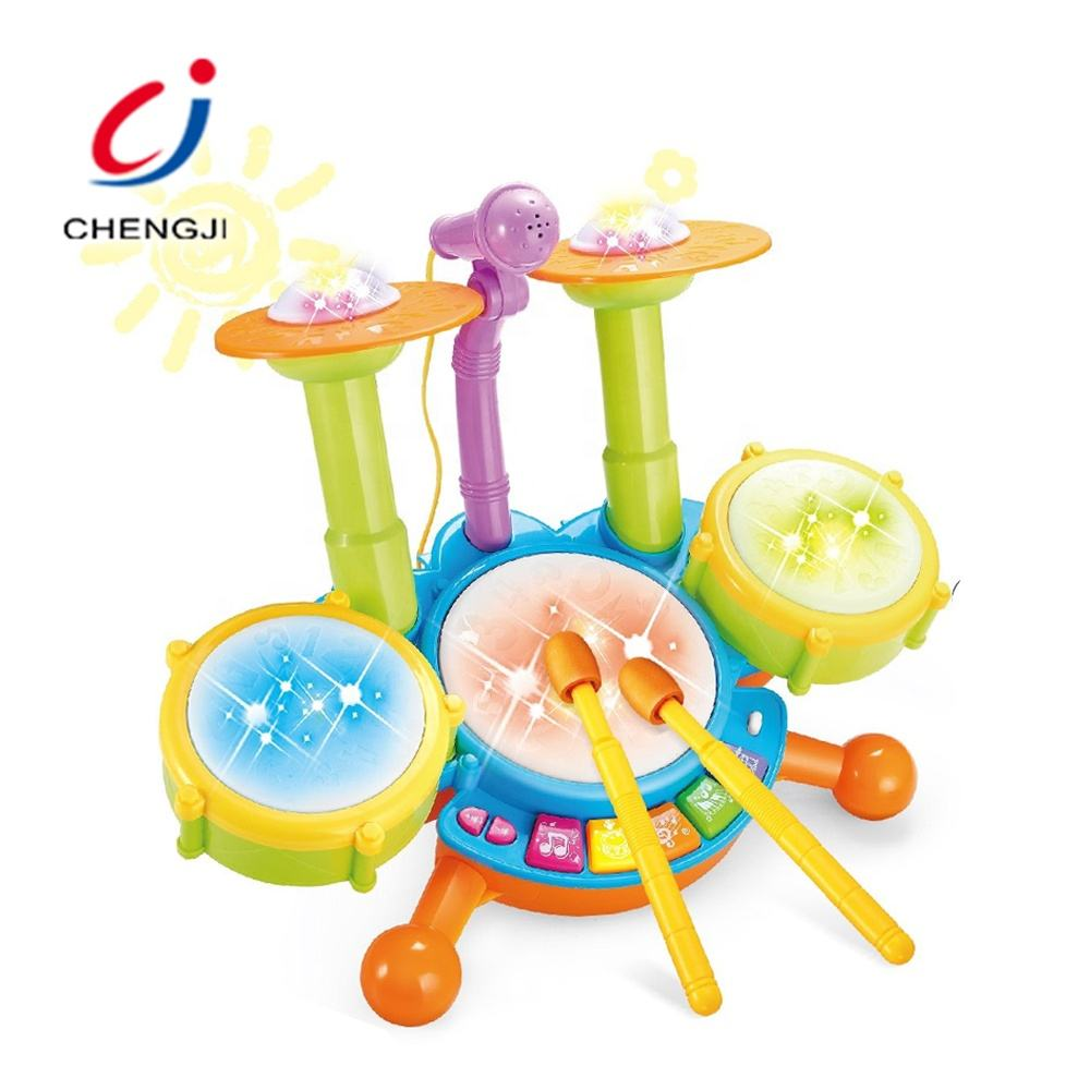 Baby Multi-function Musical Keyboard Instrument, Microphone Learning Electronic Drum Toy