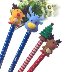 Custom fruit animal ball pen pvc pen toppers met uw eigen ontwerp