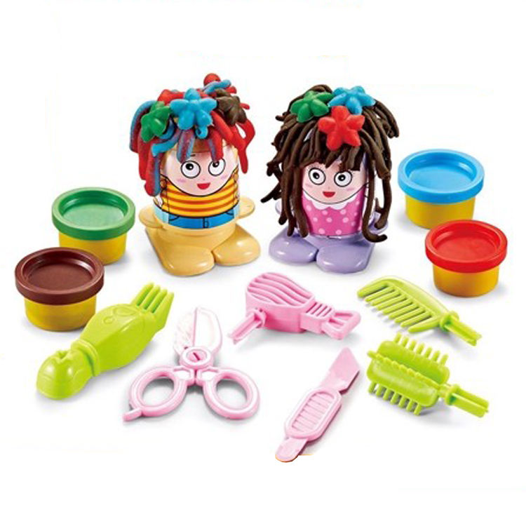 Plasticine Mold Toy Clay Model hair style game toy clay Modeling Sculpting Play set