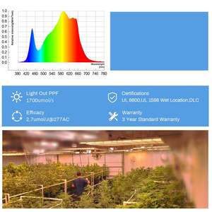 Free Shipping     California Stocks 3 years Warranty Led Grow Light Ready to Ship for Greenhouse