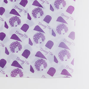 Tissue Paper Wrapping Purple Printing 17g White Gift Customized Logo