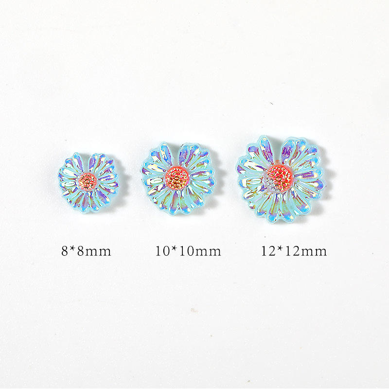 2021 New Nail Sticker Little Daisy 3d Acrylic Engraved Cartoon Nail Stickers