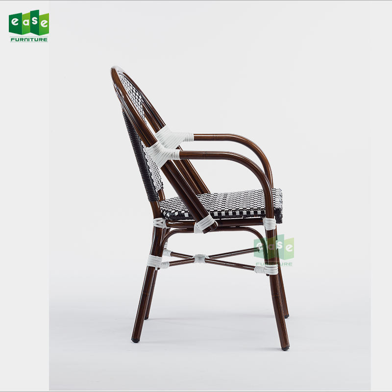 European restaurant french bistro rattan cafe arm chairs  E200779 arm