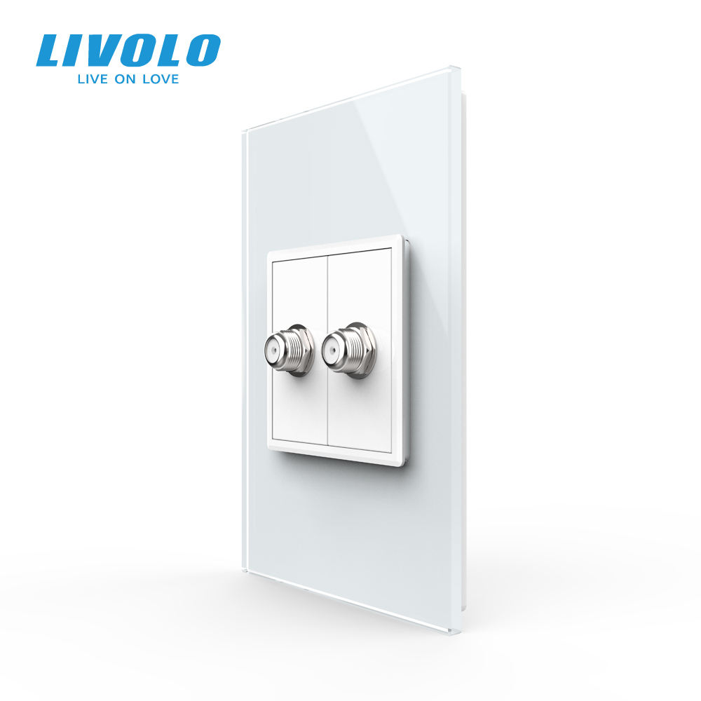 Livolo C9 series patented new products 2020 double satellite tv antenna smart socket