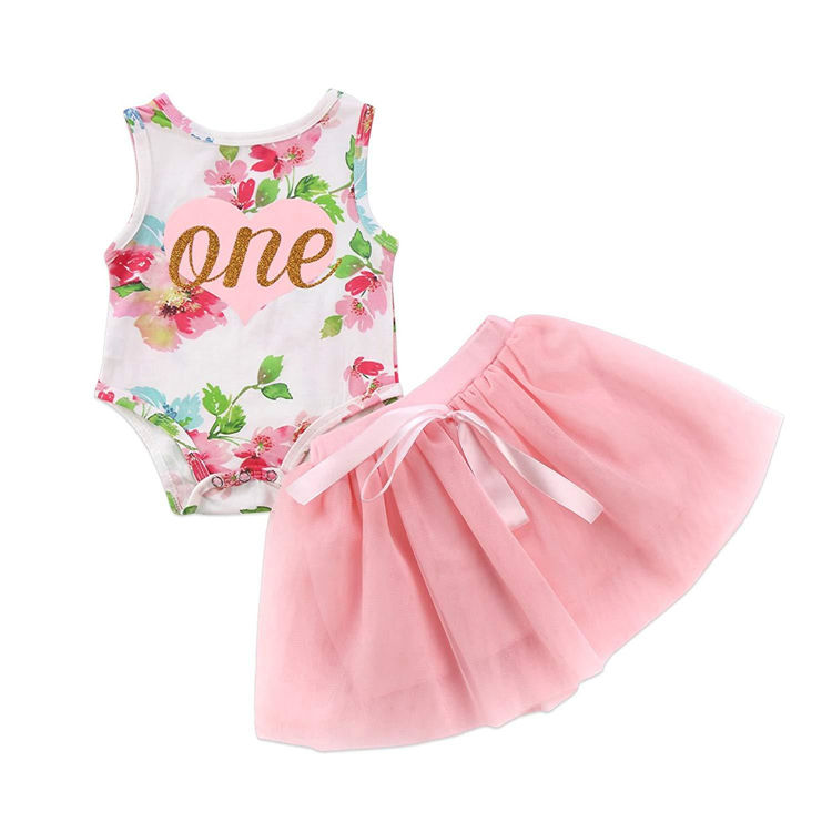 Wholesale 6 month rompers top Mesh skirt baby cute girl stylish dress