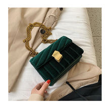 Luxury Handbags Velvet Crossbody Bag women Vintage bag Velour Special Lock Ladies Chain Messenger Bags Designed Borse da donna