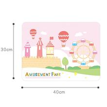 Non-Slip Colorful Printing Children's Dinning Silicone Mat Table Mat