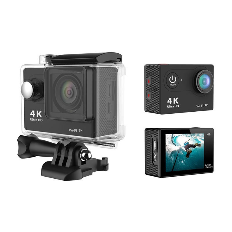 Factory supply full HD 4K 1080P 2.0'' WIFI waterproof 30M action camera car DVR