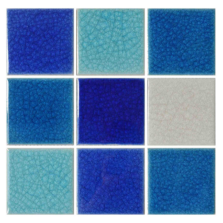 Bathroom Porcelain Crackle Glass Mosaic Tile Backsplash