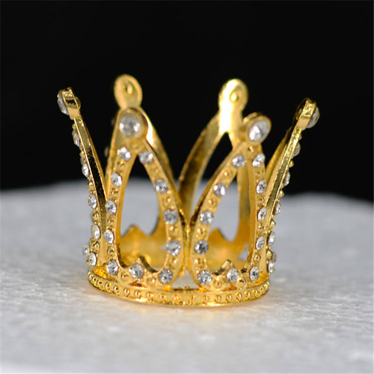Gold And Sliver Kids Mini Crystal Alloy Crown Birthday Party Rhinestone Crystal Tiara For Baby Hair Cake Decorations