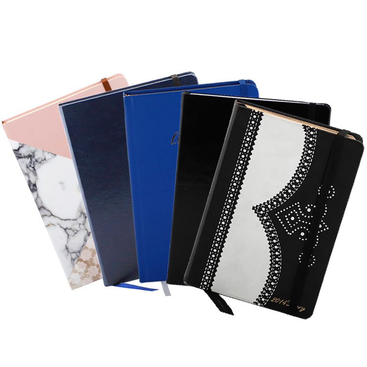 Wholesale Custom Printing A5 PU Leather Hardcover Planner Journal Notebook