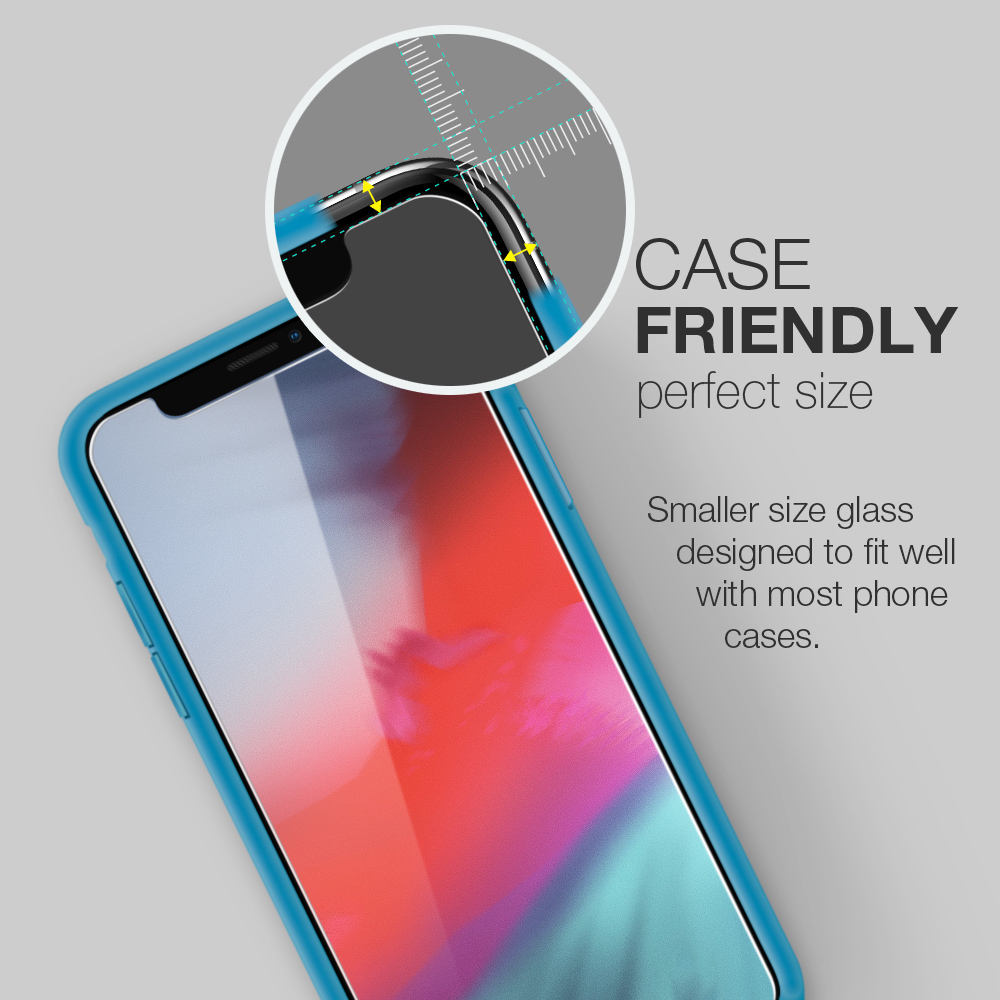 Screen Protector Designed For Apple iPhone XS/ XR/ MAX/ 11/ 11 PRO/ PRO MAX Easy Installation