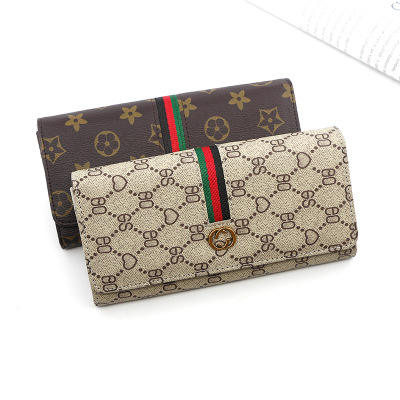 Wholesale New lady's luxury wallet leisure large capacity bag multi-function printed zero wallet lady's long wallet