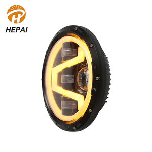Newest high low beam auto head lamp 65w 7inch round motorcycle car projector led headlight