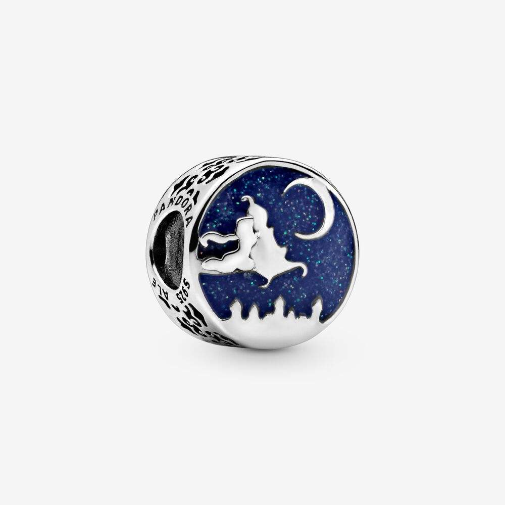 New 925 Silver Bead Charm Blue Enamel Aladdin Magic Carpet Ride Charm Fit Brand Charm Bracelet Bangle Diy Jewelry Accessories