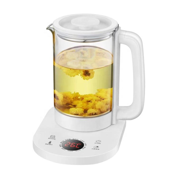 New arrival digital health pot with 10 cooking function electric glass kettle CB/CE/RoHS/LFGB