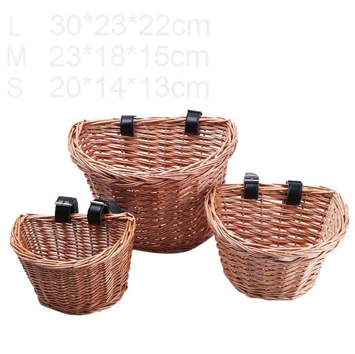 Wicker Bicycle Basket storage baskets