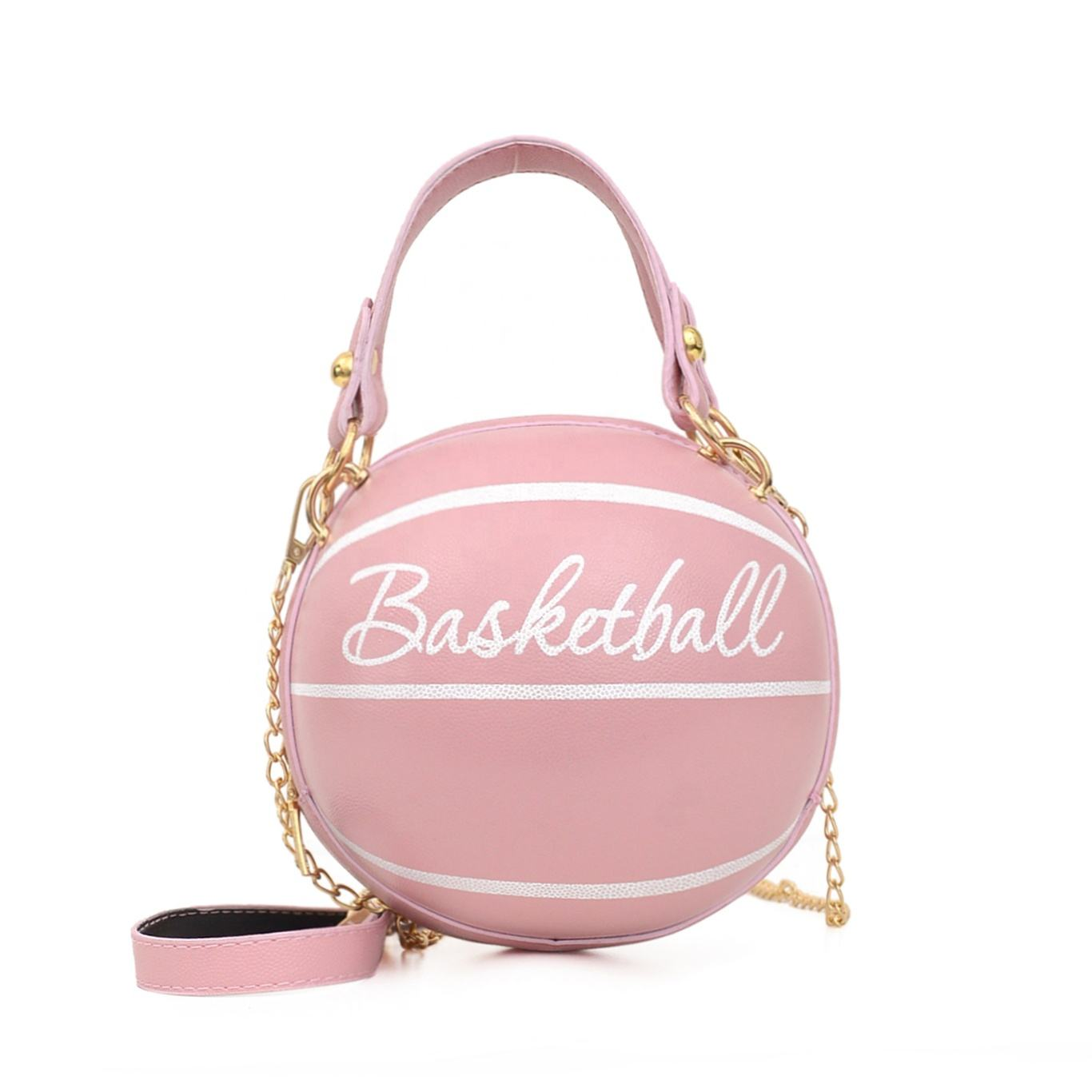 2020 high quality brand fashion basketball purses pink basketball handbag round basketball purse mini purses