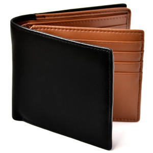Japanese Style Genuine Leather RFID Blocking Men's Credit Card Holder Coin Pocket Bifold Purse Wallet