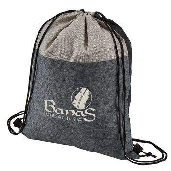 Heathered N' Jute Drawstring Backpack With High Quality