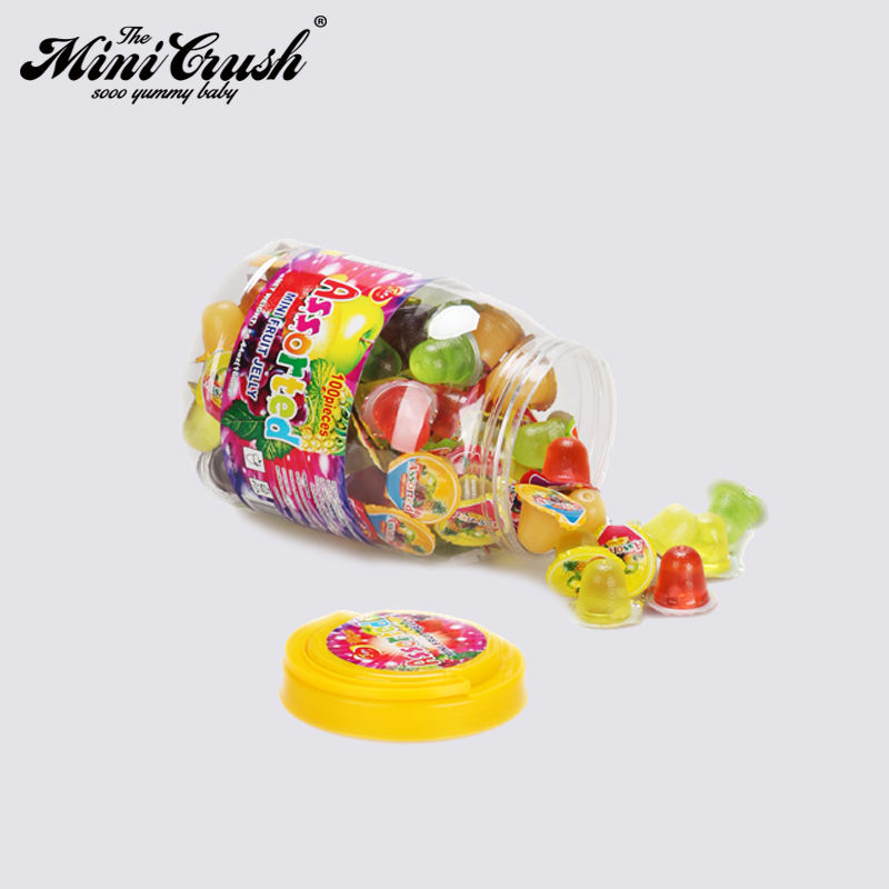 Chinese candy dessert type fruit jelly with fruits drink