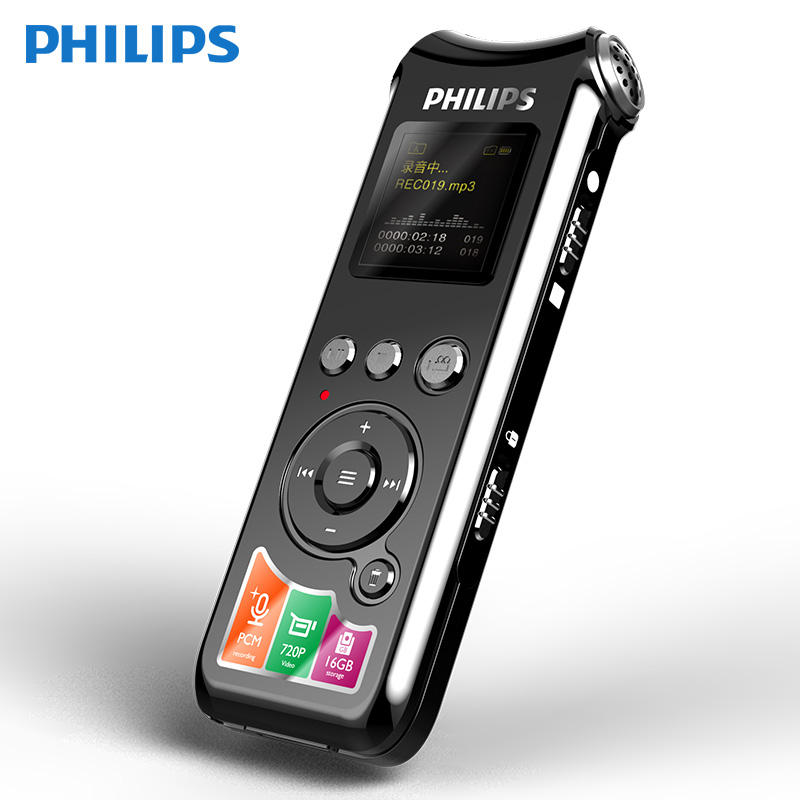 Philips originale mini digital voice <span class=keywords><strong>recorder</strong></span> 16GB voce chiara con digital video <span class=keywords><strong>recorder</strong></span>