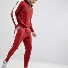 Dongguan supplier private label custom slim fit colorblock tracksuits for men